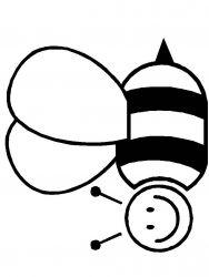 plansa de colorat insecte albinute de colorat p06