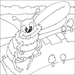 plansa de colorat insecte albinute de colorat p13