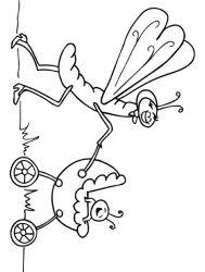 plansa de colorat insecte de colorat p10
