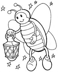 plansa de colorat insecte de colorat p44
