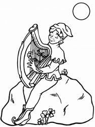 plansa de colorat instrumente muzicale de colorat p01