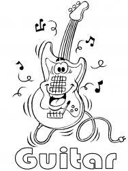 plansa de colorat instrumente muzicale de colorat p04