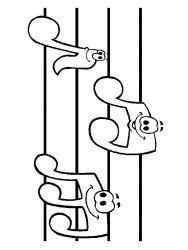 plansa de colorat instrumente muzicale de colorat p09