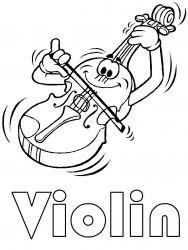 plansa de colorat instrumente muzicale de colorat p14