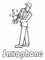 plansa de colorat instrumente muzicale de colorat p16