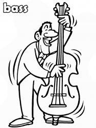 plansa de colorat instrumente muzicale de colorat p21