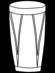 plansa de colorat instrumente muzicale de colorat p25