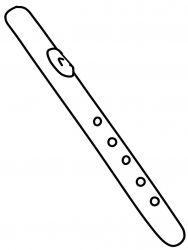 plansa de colorat instrumente muzicale de colorat p30