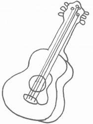 plansa de colorat instrumente muzicale de colorat p34