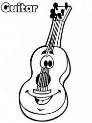 plansa de colorat instrumente muzicale de colorat p35