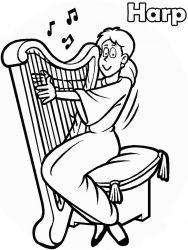 plansa de colorat instrumente muzicale de colorat p36