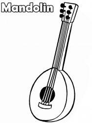 plansa de colorat instrumente muzicale de colorat p41