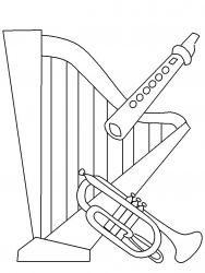 plansa de colorat instrumente muzicale de colorat p44