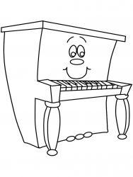 plansa de colorat instrumente muzicale de colorat p45