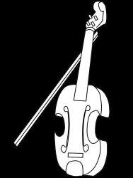 plansa de colorat instrumente muzicale de colorat p53
