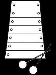 plansa de colorat instrumente muzicale de colorat p54