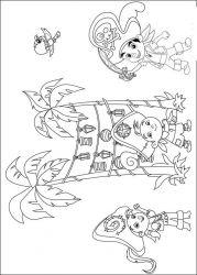 plansa de colorat jake si piratii din tara de nicaieri de colorat p03