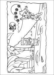 plansa de colorat jake si piratii din tara de nicaieri de colorat p11
