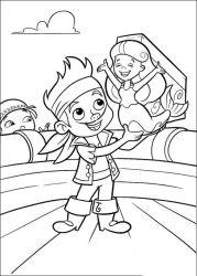 plansa de colorat jake si piratii din tara de nicaieri de colorat p18