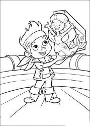 plansa de colorat jake si piratii din tara de nicaieri de colorat p23