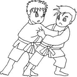 plansa de colorat judo de colorat p06