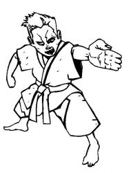 plansa de colorat judo de colorat p10