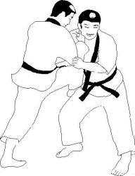 plansa de colorat judo de colorat p14
