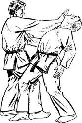 plansa de colorat judo de colorat p15