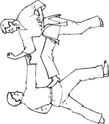 plansa de colorat judo de colorat p16