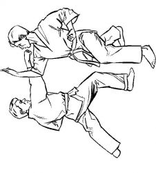 plansa de colorat judo de colorat p17