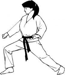 plansa de colorat judo de colorat p18