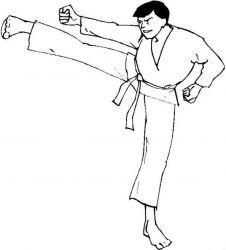 plansa de colorat judo de colorat p21