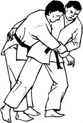 plansa de colorat judo de colorat p22