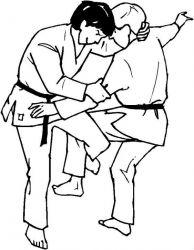 plansa de colorat judo de colorat p23
