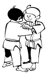plansa de colorat judo de colorat p24