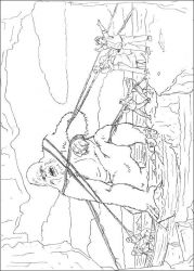 plansa de colorat king kong de colorat p09