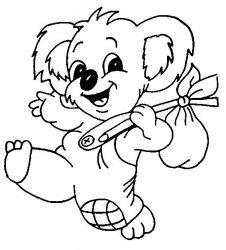 plansa de colorat koala de colorat p08