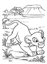 plansa de colorat lion king de colorat p03