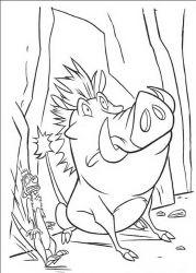 plansa de colorat lion king de colorat p20