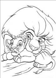 plansa de colorat lion king de colorat p25