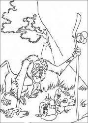plansa de colorat lion king de colorat p26