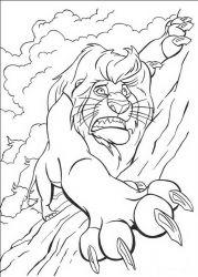 plansa de colorat lion king de colorat p27