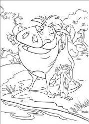 plansa de colorat lion king de colorat p31