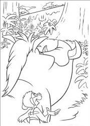plansa de colorat lion king de colorat p32