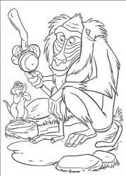plansa de colorat lion king de colorat p35
