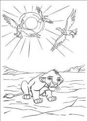 plansa de colorat lion king de colorat p36
