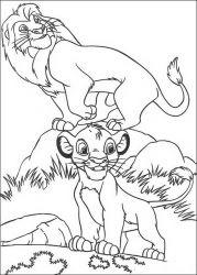 plansa de colorat lion king de colorat p53