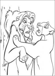 plansa de colorat lion king de colorat p60