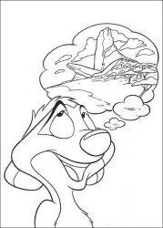 plansa de colorat lion king de colorat p62