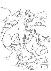 plansa de colorat lion king de colorat p65